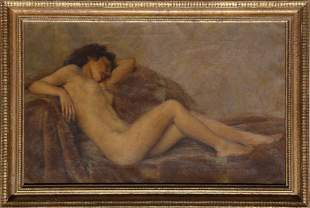 Paul Sieffert, Reclining Nude, Oil Painting.