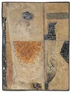 Hugh Wiley, Modern Abstract, Mixed Media Painting