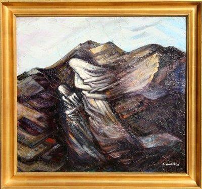 10: David Alfaro Siqueiros, Two Figures, Painting