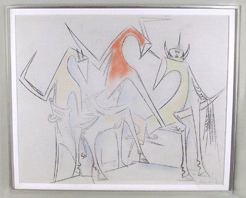 12: Wifredo Lam, Crayon and Pastel Drawing