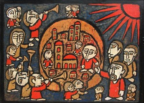 17: Raimundo de Oliveira, Biblical Scene, Painting