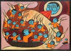 18: Raimundo de Oliveira, Jonah and the Whale, Painting