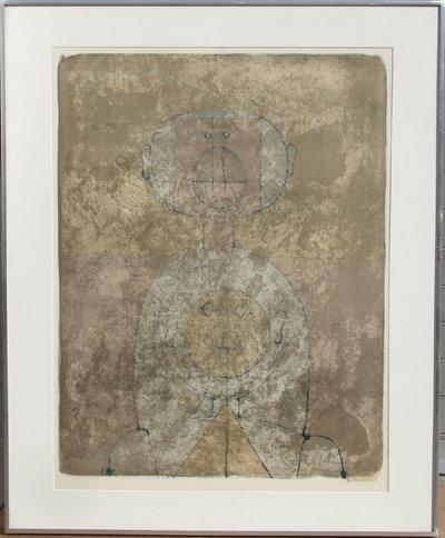 55: Rufino Tamayo, Dos Cabezas, Lithograph