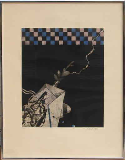 10: Tetsuo Araki, Abstract Japanese Aquatint Etching