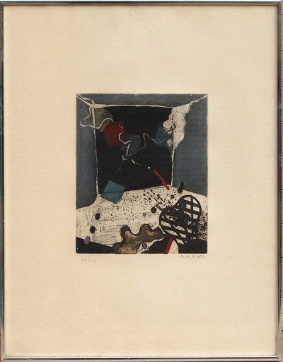 11: Tetsuo Araki, Abstract Japanese Aquatint Etching