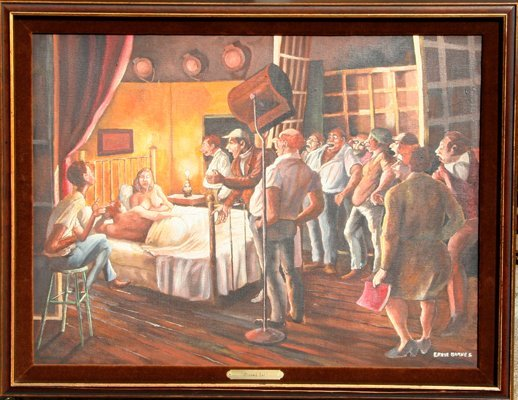 22: Ernie Barnes, Closed Set, Painting