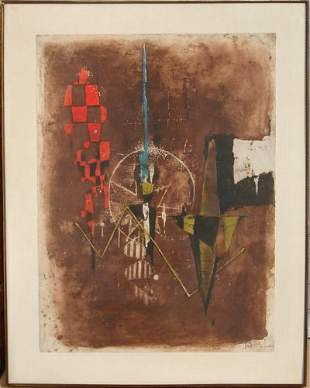 88: Johnny Friedlaender, Abstract, Lithograph