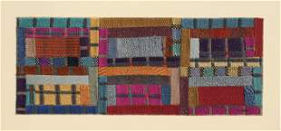 Ottavio Missoni, No. 3 - Rectangles, Woolen Tapestry