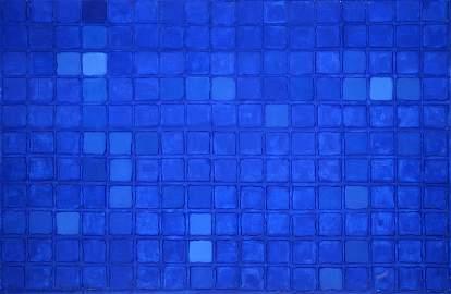 James Hiroshi Suzuki, Blue Vision, Acrylic on Canvas