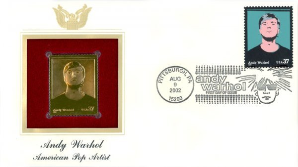 10: Andy Warhol, USPS Stamps, First Issue, Gold Replica