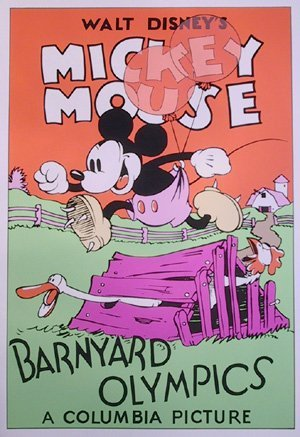 18: Disney, Barnyard Olympics, Serigraph Poster