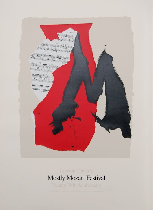 598: Robert Motherwell, Mostly Mozart, Lithograph