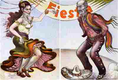 Luis Jimenez, Fiesta (Diptych), Two Lithographs on