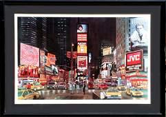 Ken Keeley, Time Square Night (Eternity), Screenprint
