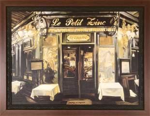 Stephen F. Verona, Le Petit Zinc, Giclee on Canvas