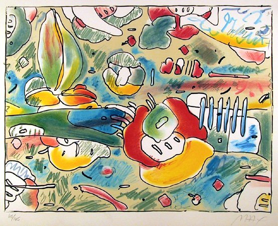 5: Peter Max, Flower Abstract, Lithograph