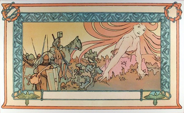 13: Alphonse Mucha, Soldiers Dream, Lithograph Poster