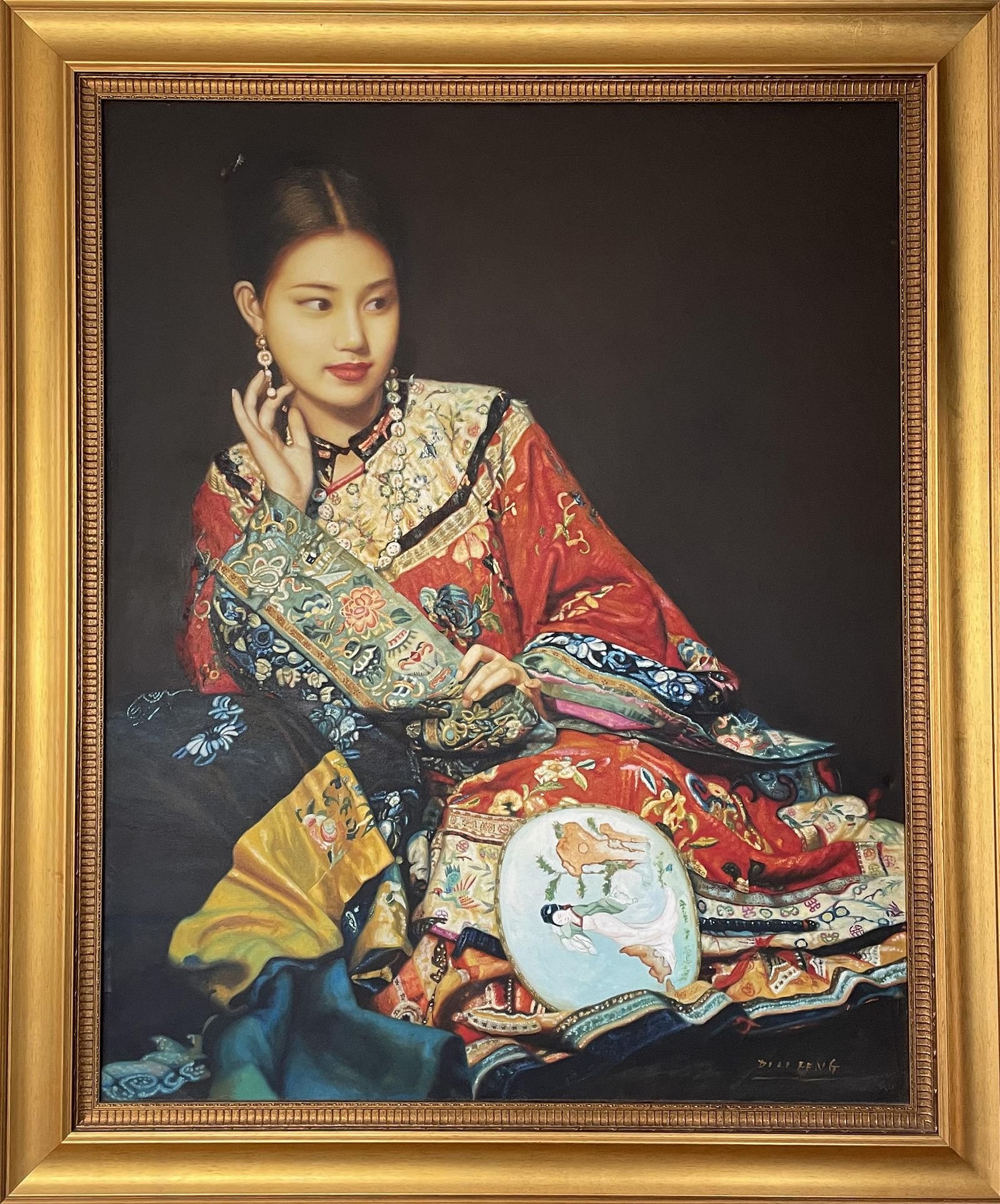 Di Li Feng, Reclining Woman , Oil Painting