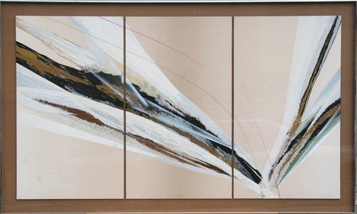 503: Elba Alvarez, Prima I, Triptych of Serigraphs on P
