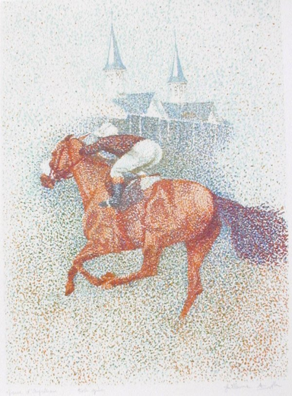 510: Guillaume Azoulay, Twin Spires, Serigraph