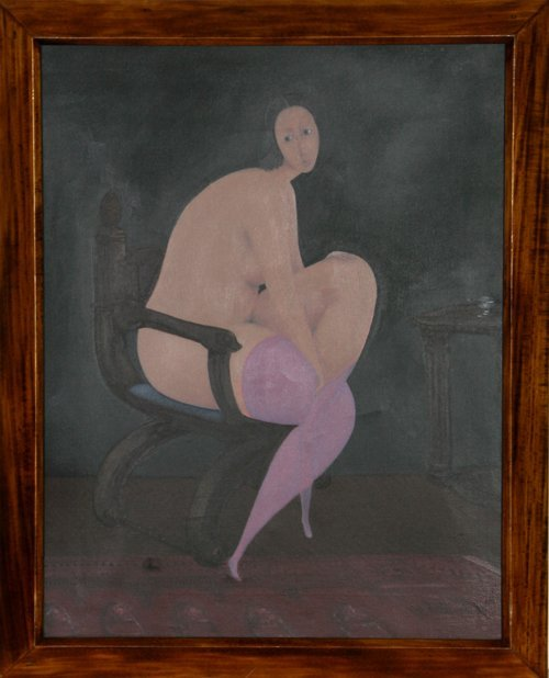 513: Branko Bahunek, untitled 5 (Nude with Purple Stock