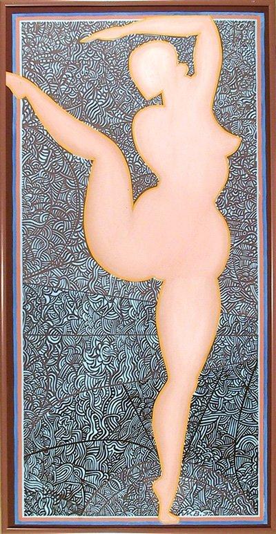 514: Martin Barooshian, Nude Dancer, Oil on Canvas
