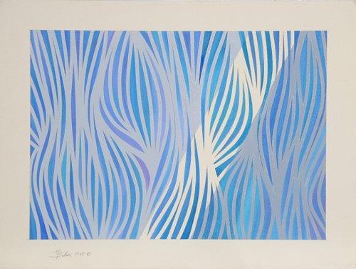 522: Gisela Beker, Movement, Acrylic on Paper