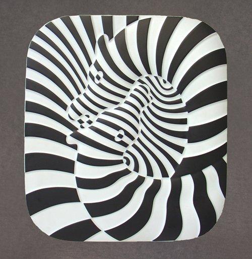 811: Victor Vasarely, Zebras, Porcelain Plate