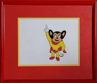 Ralph Bakshi, Mighty Mouse Pointing , Hand Painted