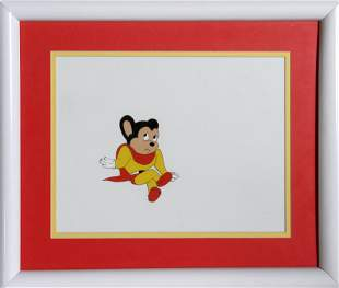 Ralph Bakshi, Mighty Mouse Sitting, Hand Painted