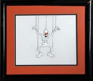 Ralph Bakshi, Mighty Mouse: Skeleton, Hand Painted