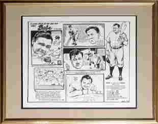Bill Gallo, A Look Back: Babe Ruth, Lithograph in the