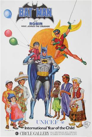 Bob Kane, Batman and Robin Have Joined the UNICEF