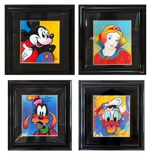 Peter Max, Mickey, Snow White, Goofy, and Donald Duck,