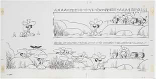 Tom K. Ryan, Tumbleweeds, Ink Drawing on Illustration