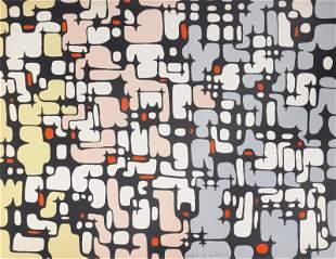 Ibram Lassaw, Continuity No. 1, Screenprint