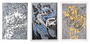 Bruce Porter, Bayard Series, Set of Three Screenprints
