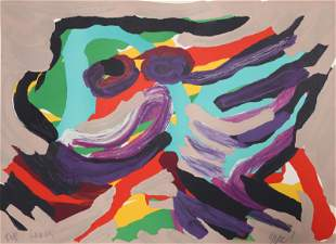 Karel Appel, Fantastic Animal, Lithograph on Arches