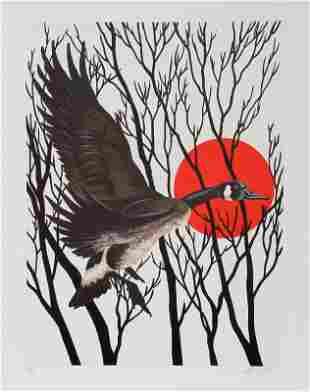 Allen Friedman, Sunset Goose, Lithograph