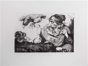Charles Bragg, The Fifth Day, Etching