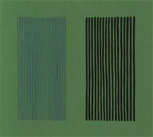 Gene Davis, Green Giant, Lithograph on Arches