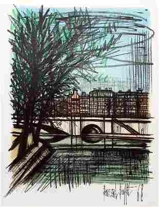 Bernard Buffet, La Seine I, Lithograph