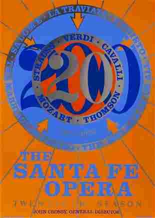 Robert Indiana, The Santa Fe Opera, Screenprint Poster