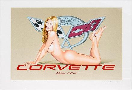 Mel Ramos, Corvette, Lithograph