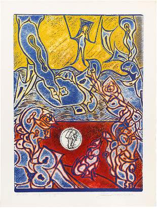 Martin Barooshian, Conquest of Space, Intaglio Aquatint