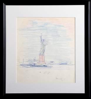 Dimitrie Berea, Statue of Liberty, Drawing