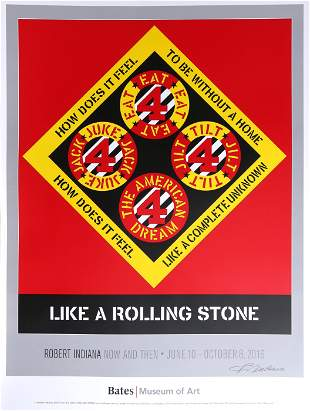 Robert Indiana, Like a Rolling Stone, Bates Museum of