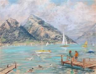 Kamil Kubik, Lake in the Mountains, Pastel on Paper