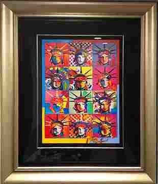 Peter Max, Liberty and Justice for All, Acrylic and