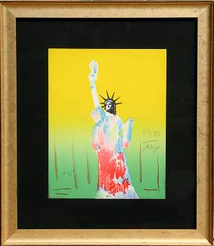 Peter Max, Statue of Liberty (Yellow/Green), Lithograph